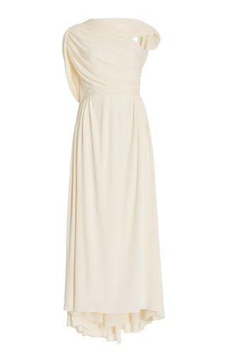 Sloan Asymmetric Draped Jersey Maxi Dress