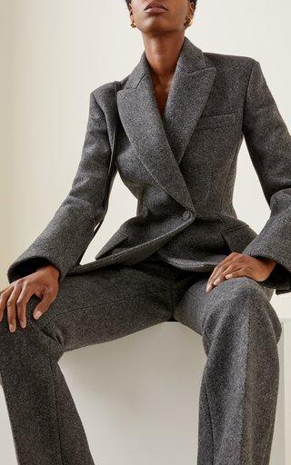 Delphine Double-Breasted Wool Blazer Jacket
