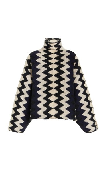 Molly Intarsia-Knit Cashmere Sweater