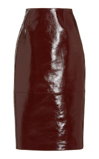 May Leather Pencil Skirt
