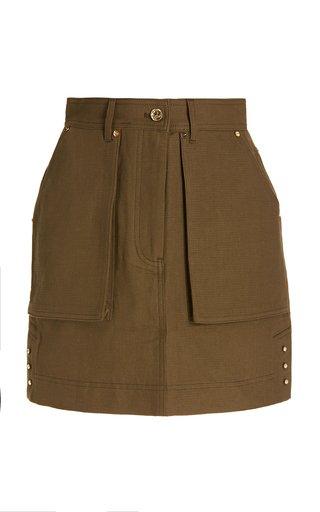 Walter Cotton and Linen-Blend Mini Skirt