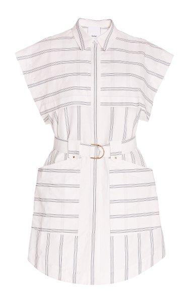 Morton Striped Cotton Mini Dress