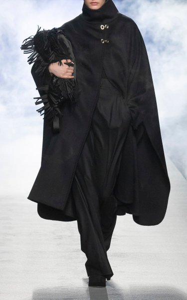 Double Felt Stitched Virgin Wool Cape