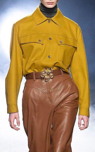 Western Virgin Wool-Blend Shirt