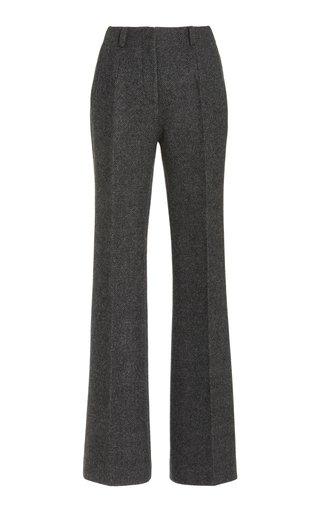 Amelie Wool Flared-Leg Trousers