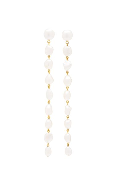 Long Cairo Pearl Earrings