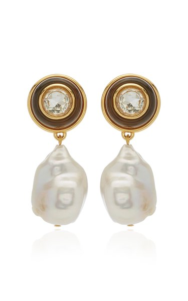 Candy Drop Pearl, Amethyst Gold-Plated Earrings