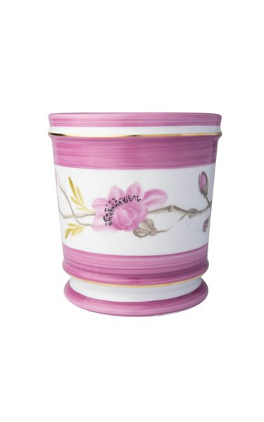 Set Of 1 Directoire Flower Pot, Medium, Frise D'Orient   Magnolia
