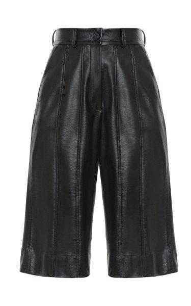 Eco Leather Cropped Shorts