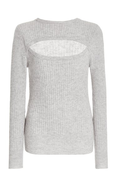 Cutout Wool-Cashmere Top