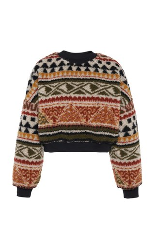 Jacquard-Knit Pullover Sweater