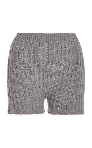 Kinsley Ribbed Wool-Cashmere Shorts