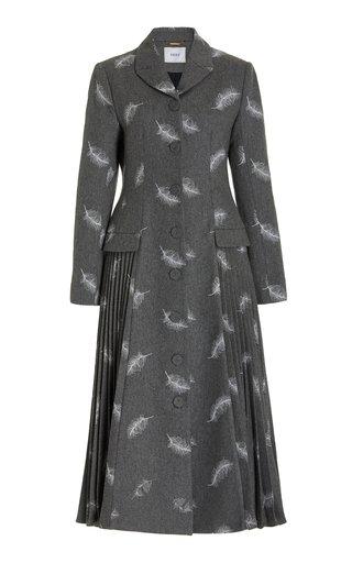 Calla Printed Wool-Blend Coat