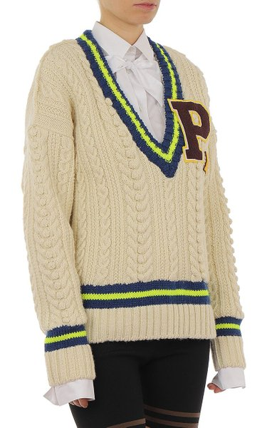 Cable-Knit Virgin Wool-Blend Sweater