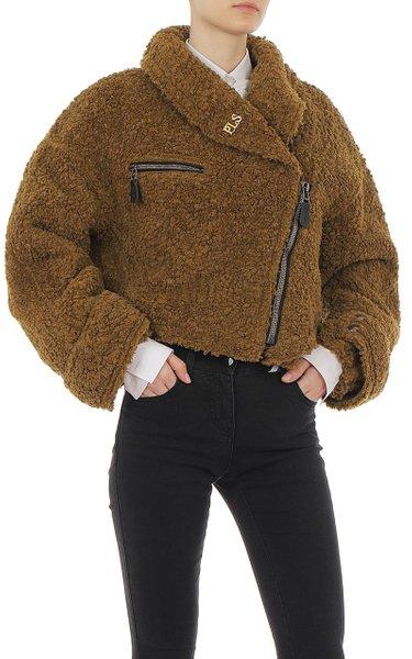 Faux Sheepskin Cropped Jacket