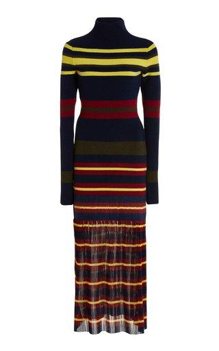 Striped Wool Maxi Sweater Dress