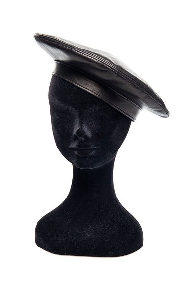 Leather Beret Hat