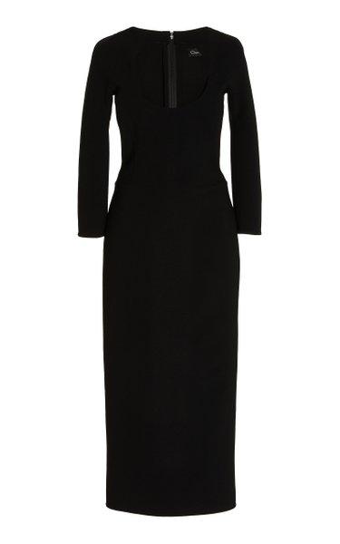 Pencil Virgin Wool-Blend Cocktail Dress