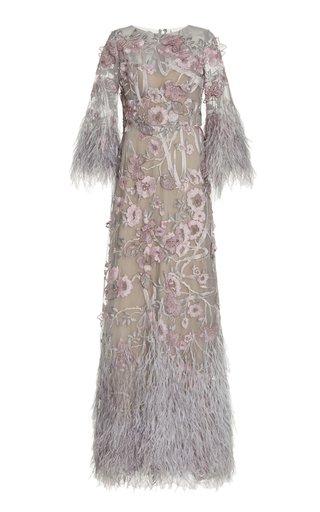 Embellished Tulle Maxi Dress