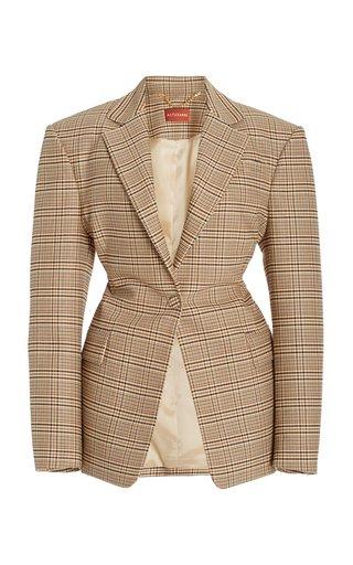 Macguffin Tapered Plaid Wool-Cotton Blazer