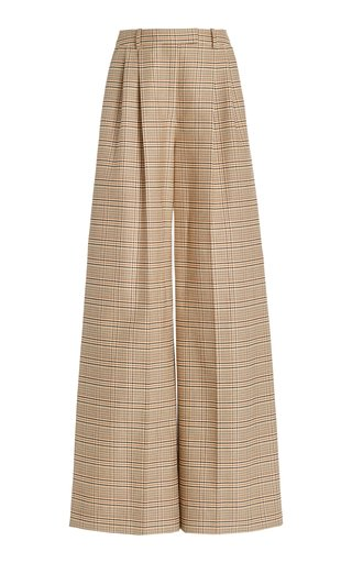 Bendix Pleated Wool-Cotton Wide-Leg Trousers