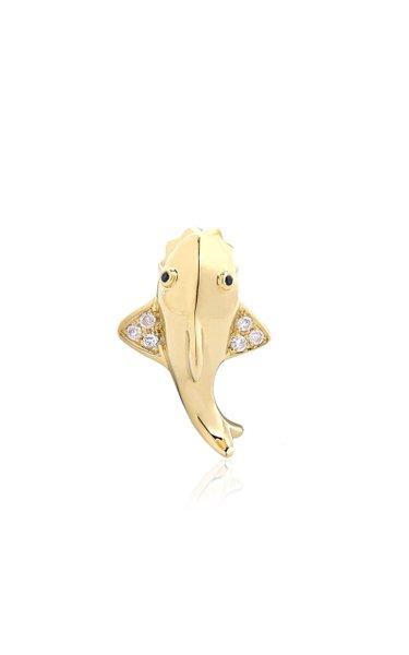 9K Gold Diamond Single Earring