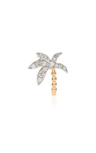 18K Gold Diamond Single Earring