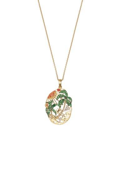 L'Amour A La Plage 9K Yellow Gold Multi-Stone Necklace
