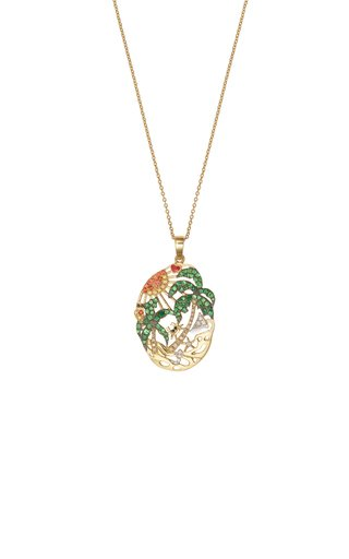L'Amour A La Plage 9K Yellow Gold Multi-Stone Necklace