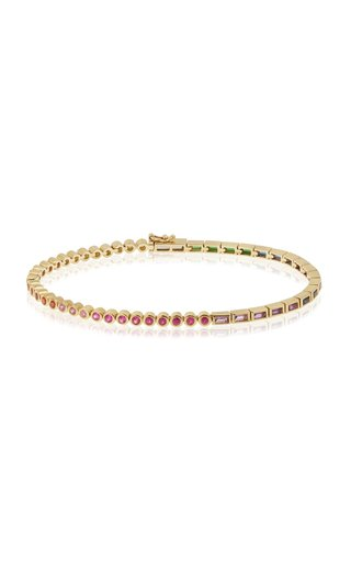 9K Gold Multi-Stone Tennis Bracelet