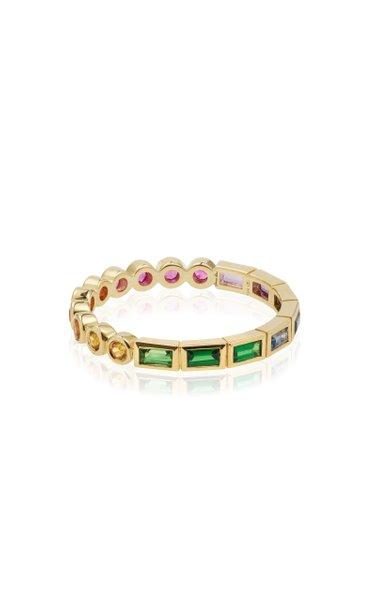 9K Yellow Gold Multi-Stone Ring
