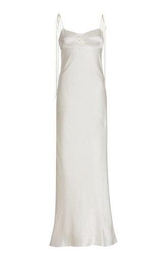 Paris Open-Back Satin Maxi Slip Dress