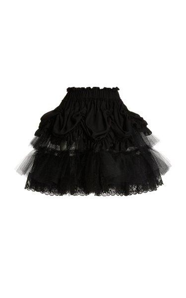 Tiered Tulle Mini Skirt