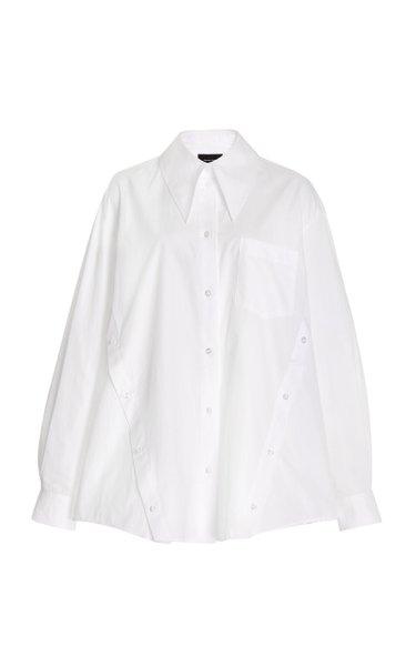 Button-Detailed Cotton Top