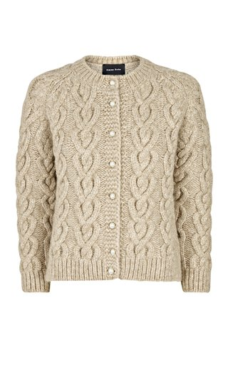 Pearl-Detailed Knit Cardigan