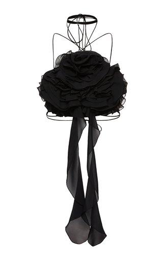 Ruffled Silk Top