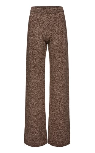 Wool Mélange Wide-Leg Pants