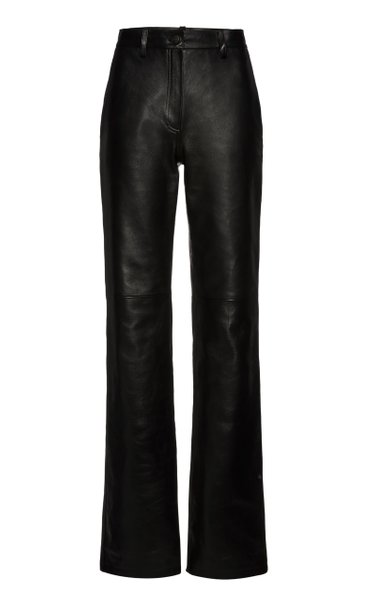 Leather Flared Trousers