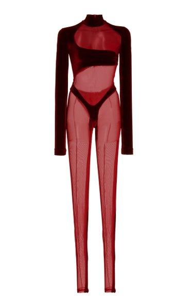 Cutout Velvet Bodysuit
