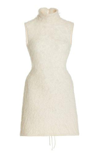 Textured-Knit Mini Dress