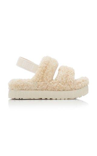 Oh Fluffita Sheepskin Platform Sandals