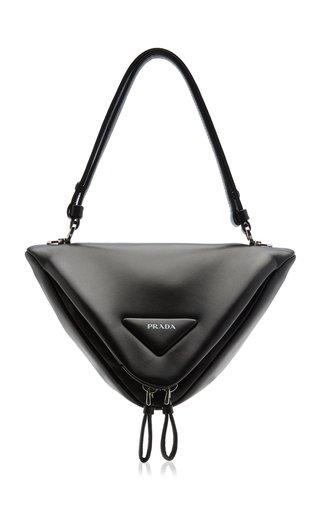 Padded Leather Shoulder Bag