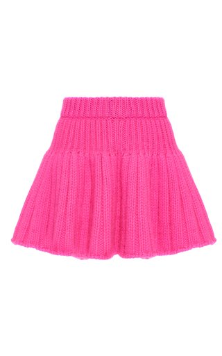 Ribbed-Knit Mini Skirt