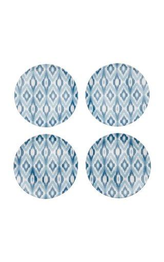Ikat Set-Of-Four Porcelain Side Plates
