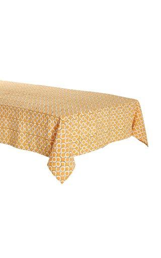 Handprinted Cotton Tablecloth