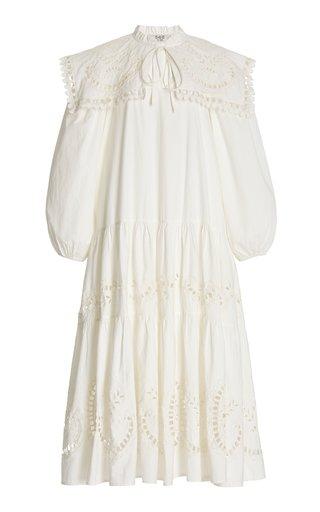 Santos Eyelet-Embroidered Cotton Tunic Dress