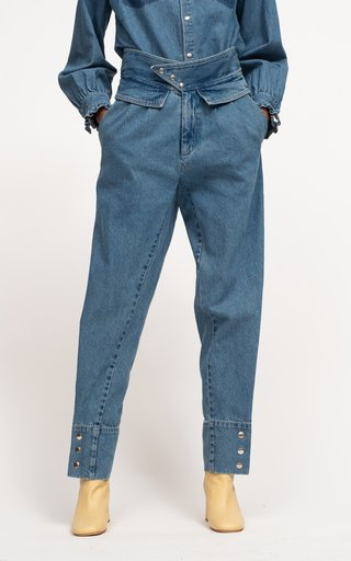 Zariyah Rigid High-Rise Tapered Jeans