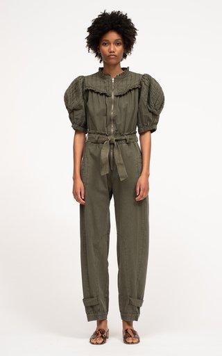 Layla Sandwashed Belted Cotton Jumpsuit