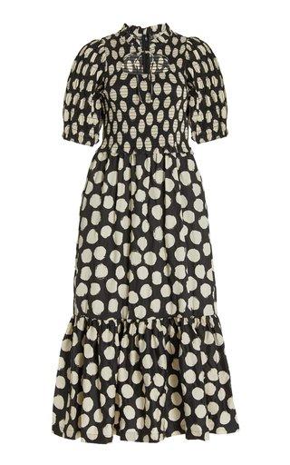 Arline Printed Cotton Midi Dress
