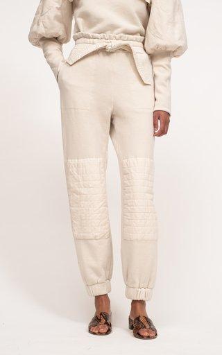 Layla Sandwashed Belted Cotton Sweatpants